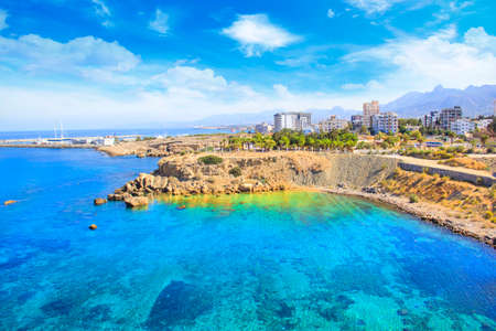 新しいポートのキレニア (Girne)、北キプロスの美しい景色