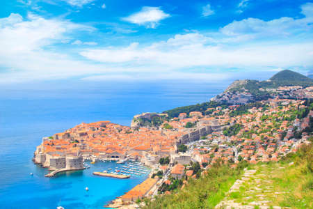 Beautiful view of the historic city of Dubrovnik, Croatia on a sunny day Stock Photo