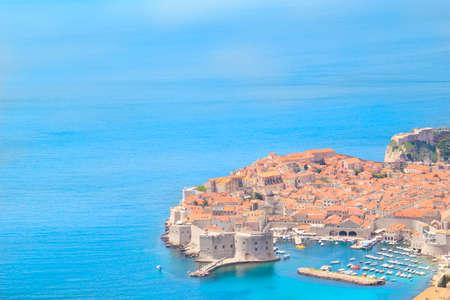 Beautiful view of the ancient city of Dubrovnik, Croatia Stock Photo