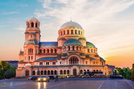 A beautiful view of the Alexander Nevsky Cathedral in Sofia, Bulgaria Фото со стока