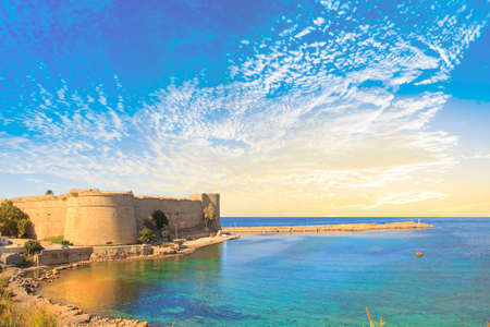 Beautiful view of Kyrenia Castle in Kyrenia (Girne), Northern Cyprus