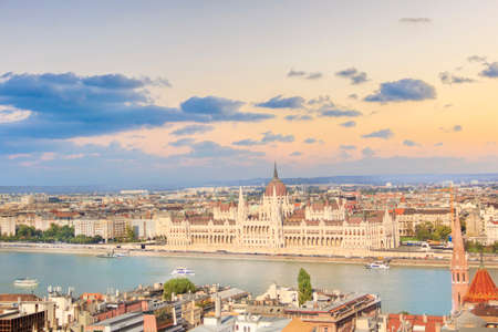 Beautiful view of the Hungarian Parliament in Budapest, Hungary 写真素材