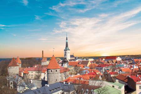 Beautiful view of the Kik-in-de-Kk Tower in Tallinn, Estonia on a sunny day