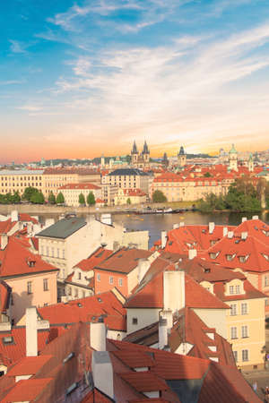 Beautiful view of Hradcany, Prague's historic district, Czech Republic Banque d'images