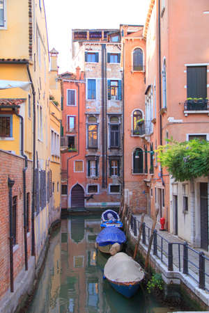 Beautiful view of one of the Venetian canals in Venice, Italy