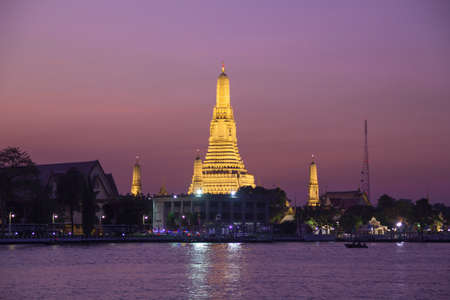 Temple of Dawn or Temple of Dawn Wat Arun in Bangkok, Thailand Stock Photo