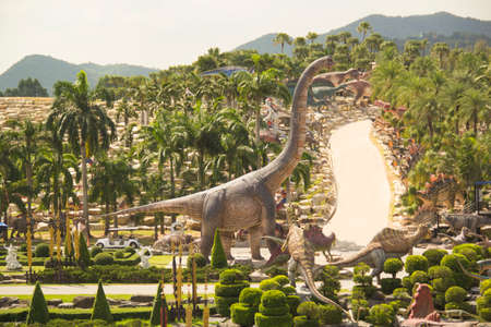Beautiful view of Nong Nooch Tropical Park, in Pattaya, Thailand