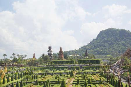 Beautiful view of Nong Nooch Tropical Park, in Pattaya, Thailand Stok Fotoğraf - 123306524