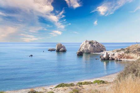 Beautiful view of the birthplace of Aphrodite in Cyprus. Petra tu Romiou, Stone of Aphrodite Reklamní fotografie