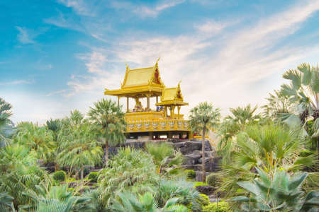 Beautiful view of the pagoda in Pattaya, Thailand