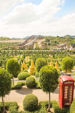 Beautiful view of the Dinosaur Valley at Nong Nooch Park in Pattaya, Thailand