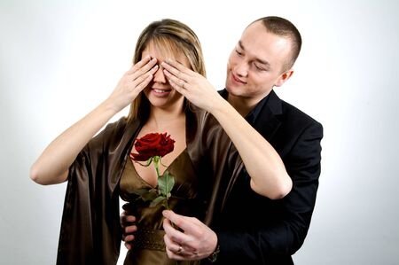 man who make a surprise for valentine day