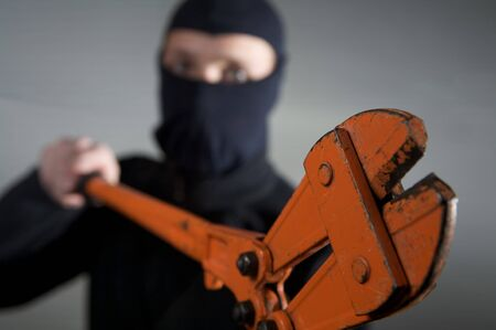 crimininal robber in action with a equipment Stock Photo - 4359283