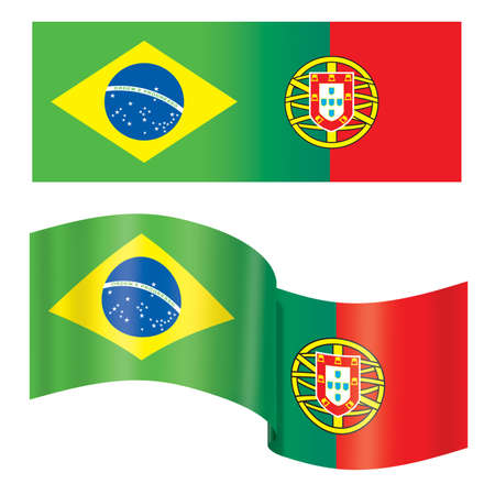 Brazil - Portugal Flag photo