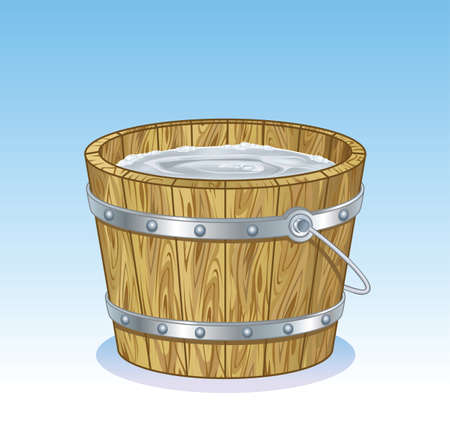 Bucket Timber Vector