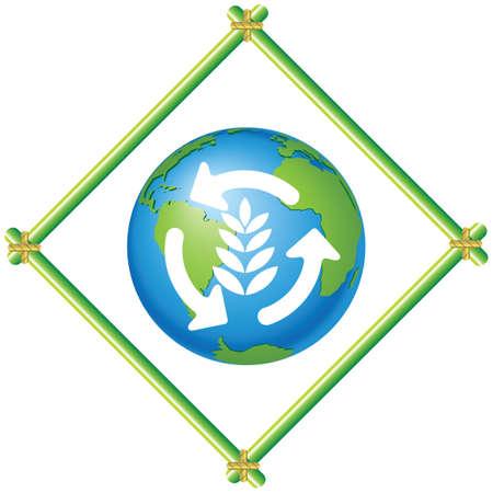 Ecological theme Vector
