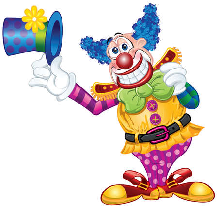 payaso: Clown tem?tico Vectores