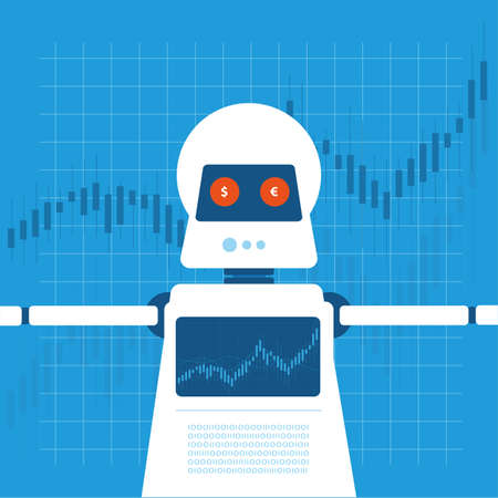 traders: Trading robot illustration