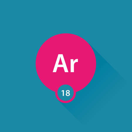 argon: Noble gas Argon flat icon