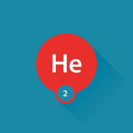 helium: Noble gas Helium flat icon Illustration