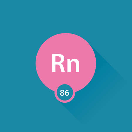 radon: Noble gas Radon flat icon