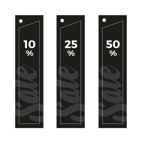 Set of black sale tags for web or print use