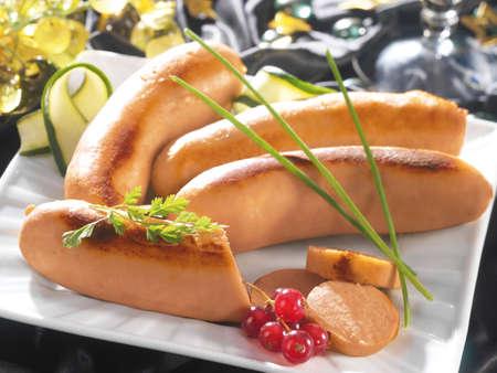 white sausage: white sausage salmon