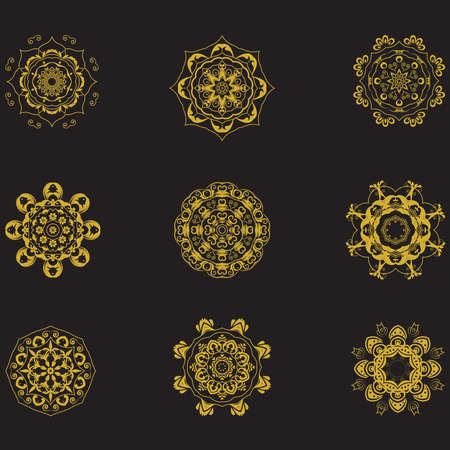 Mandala en estilo étnico 05