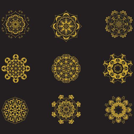 Mandala im ethnischen Stil 05