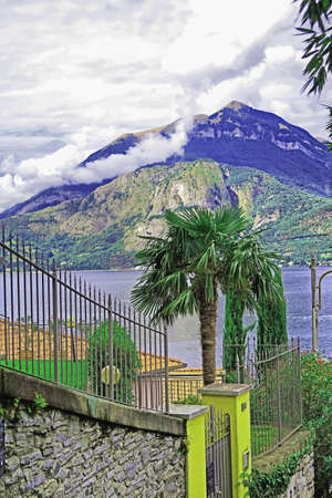 lakeview: View of Lake Como from a steep street in Varenna, Italy
