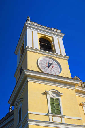 especially: Clock tower of the ducal palace of Colornoprovince of Parma, Italy.It was built by Francesco Farnese, Duke of Parma in the early 18th century. Editorial