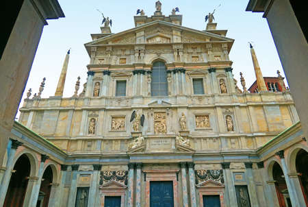 san giacomo: Milan, Italy, 19 june 2016.Santa Maria of the Miracles at San Celso is a church and a sanctuary in Milan, Lombardy, Italy.The construction was Begun by Gian Giacomo and Giovanni Dolcebuono Battagio in 1493 to house a miraculous icon of the Madonna . The i Editorial