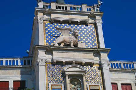 The Lion Of Saint Mark Representing The Evangelist St Mark Stock