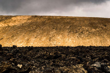 Lava field vertical Stock fotó