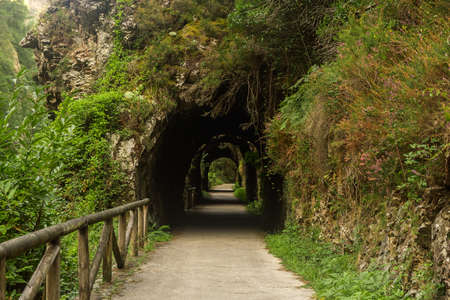 Tunnel in mountain track in spain