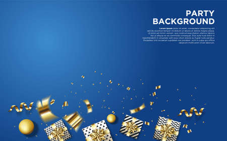 Birthday celebration background with eps 10 vector illustration 3d.