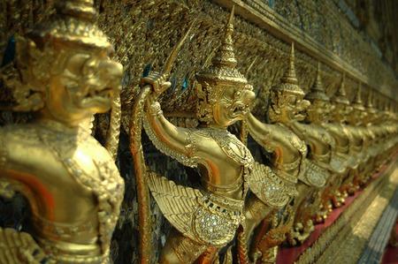in wat phra kaew: Garuda Wat Phra Kaew, Bangkok, Thailand. Stock Photo