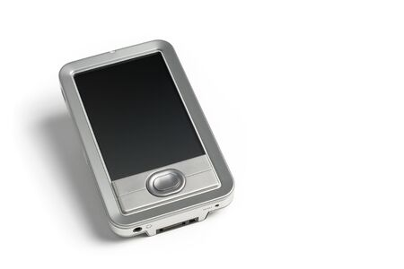Silver Electronics PDA isolated on solid white background with room for text