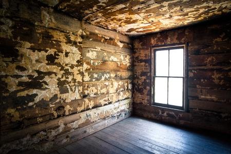 crumbling: Spooky Creepy Abandoned Farm House Neglected Rotten Decay Horror urbex photography Stock Photo