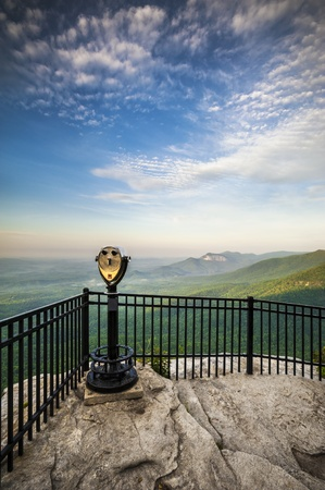 Table Rock State Park SC Sightseeing Landscape from Caesars Head State Park in upstate South Carolina