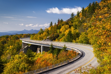 Blue Ridge Parkway Linn Cove Viaduct North Carolina Appalachian Landscape scenic travel photography in autumn Stock Photo - 17247448
