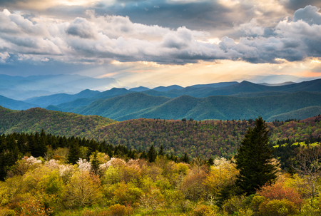 great smokies: North Carolina Blue Ridge Parkway scenic mountain landscape near Asheville NC