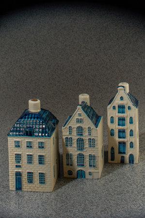 26-May-2010-KLM unique Delft Blue miniatures ceramic Editorial