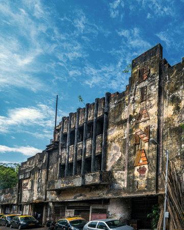 08 jun 2017 heritage architecture-Art Deco The remains of Bombay's Diana Talkies Tardeo or Tardeo Road MUMBAI MAHARASHTRA INDIA