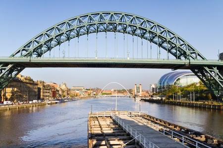 Bridge over the Tyne / View of Tyne bridge down stream with Sage and baltic buildings