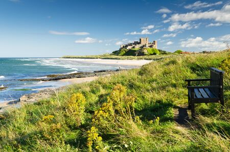 Bamburgh Castle and seat taken from the north dates back to the 6 7th century