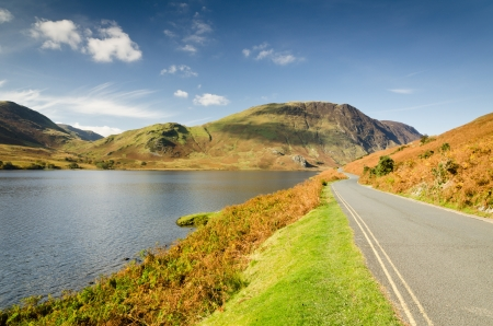 Crummock Water road in the English Lake District National Park Stock Photo - 16313143