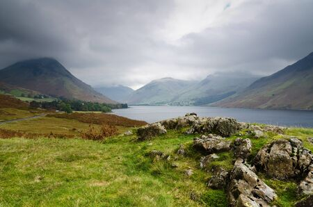 Wast Water storm in the English Lake District National Park Stock Photo - 16313141