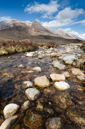 beck: Rocky mountain stream flows from the Beinn Eighe range