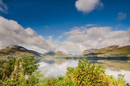 Rising Morning Mist on Loch Linnhe near Fort William photo